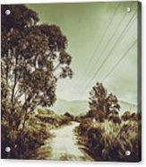 Tasmania Country Roads Acrylic Print
