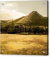 Tasmania West Coast Mountain Range Acrylic Print