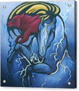 Tasunka Witko- Crazy Horse Acrylic Print
