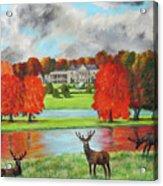 Tatton Hall In Autumn Acrylic Print