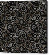 Taupe Brown Paisley Design Acrylic Print