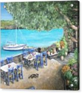 Taverna On Crete  Acrylic Print