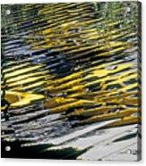 Taxi Abstract Acrylic Print by Tony Cordoza