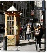 Taxi Booth Acrylic Print