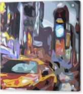 Taxi On Broadway Acrylic Print