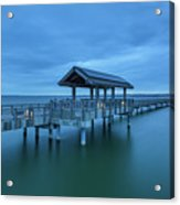 Taylor Dock Boardwalk At Blue Hour Acrylic Print