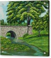 Taylor Lake Stone Bridge Acrylic Print
