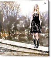 Taylor Swift Watercolor Acrylic Print