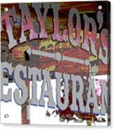 Taylors Acrylic Print