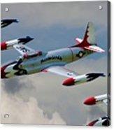 Tbirds Lockheed T-33 Shooting Star Acrylic Print