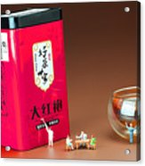 Tea Drinking In A Family Little People Big World Acrylic Print