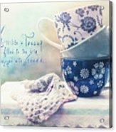 Tea For Three Acrylic Print