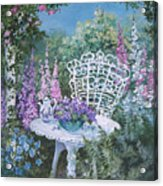Tea Time In The Garden Acrylic Print