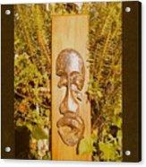 Teak Man Mask Acrylic Print