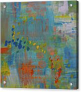 Teal Abstract, A New Look Again Acrylic Print