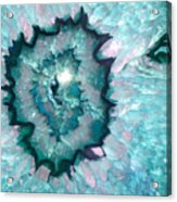 Teal Agate Acrylic Print