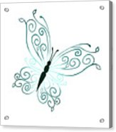 Teal Butterfly Acrylic Print