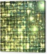 Teal Gold Cubes Acrylic Print