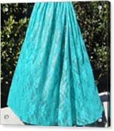 Teal Green Lace Skirt. Ameynra By Sofia Acrylic Print