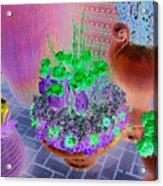 Teal Vases Acrylic Print