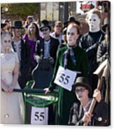 Team 55 At Emma Crawford Coffin Races In Manitou Springs Colorado Acrylic Print
