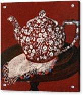 Teapot Calico Red Acrylic Print