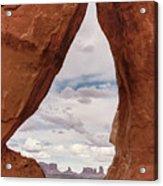 Teardrop Arch Monument Valley Acrylic Print
