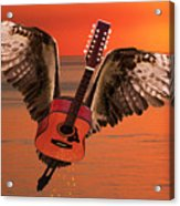Teardrops On My Guitar Rocks Acrylic Print by Eric Kempson
