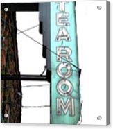 Tearoom Sign Acrylic Print