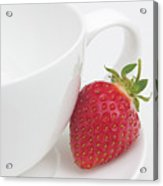 Teatime Strawberry Acrylic Print