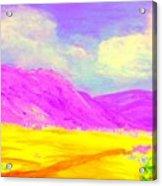 Technicolor Desert Acrylic Print