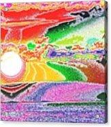 Technicolor Sunset Acrylic Print