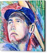 Ted Williams Boston Redsox  Acrylic Print by Jon Baldwin  Art