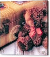 Teddy Bear And Suitcase Acrylic Print