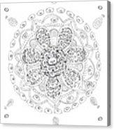 Teddy Bear Mandala Acrylic Print