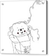 Teddy Bear Noodles Acrylic Print