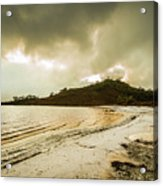 Teds Beach At Dusk Acrylic Print