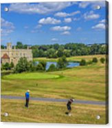 Teeing Off At Leeds Castle Acrylic Print