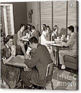 Teens At A Diner, C. 1950s Acrylic Print