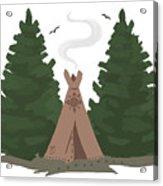 Teepee In The Woods Acrylic Print