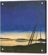 Teepee Poles Acrylic Print