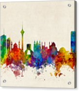 Tehran Iran Skyline Acrylic Print