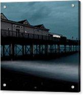 Teignmouth Pier At Dusk  Acrylic Print