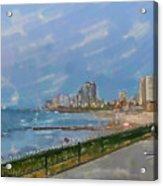 Tel Aviv Beachline Acrylic Print