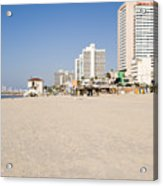 Tel Aviv Coastline Acrylic Print