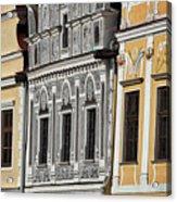 Telc Facade #2 - Czech Republic Acrylic Print