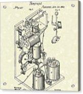 Telegraph 1869 Patent Art Acrylic Print by Prior Art Design