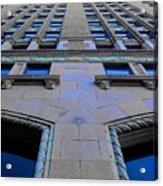 Telephone Building With Indigo Reflections Acrylic Print