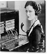 Telephone Operator Acrylic Print by General Photographic Agency
