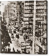 Telephone Wires Over New York, 1887 Acrylic Print by Everett